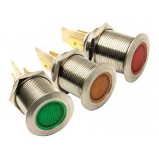 12V 19MM LED STAINLESS STEEL PILOT LIGHTS