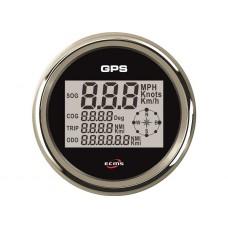 ECMS BLACK CHROME GPS SPEEDOMETER