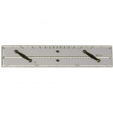 PARALLEL RULE WITH PROTRACTOR SCALE