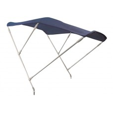 3 ARCHES BLUE STAINLESS STEEL HIGH BIMINI TOP