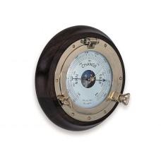 FRAMED PORTHOLE BAROMETER / CLOCK